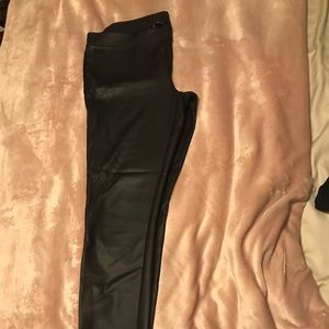 Express Faux Black Leather Leggings